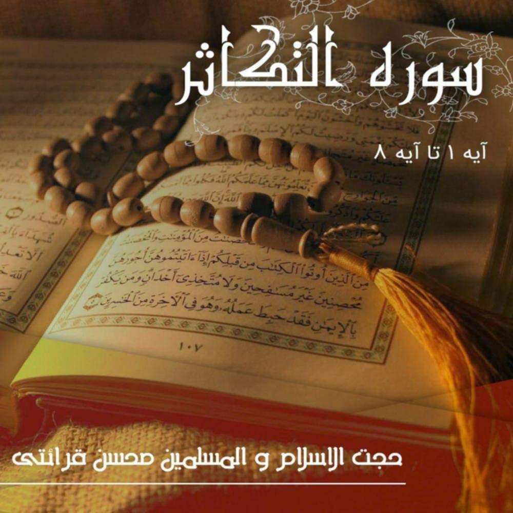 تفسیر قرآن کریم سوره التکاثر از آیه ۱ تا آیه ۸